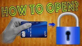 Как открыть замок пластиковой картой? Копия ключа своими руками! / How to open a lock?