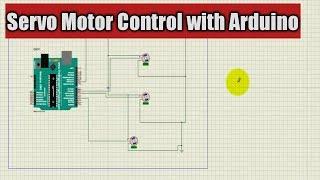 Servo Control -Servo Motor Control by Arduino on Proteus | Robotic Arm