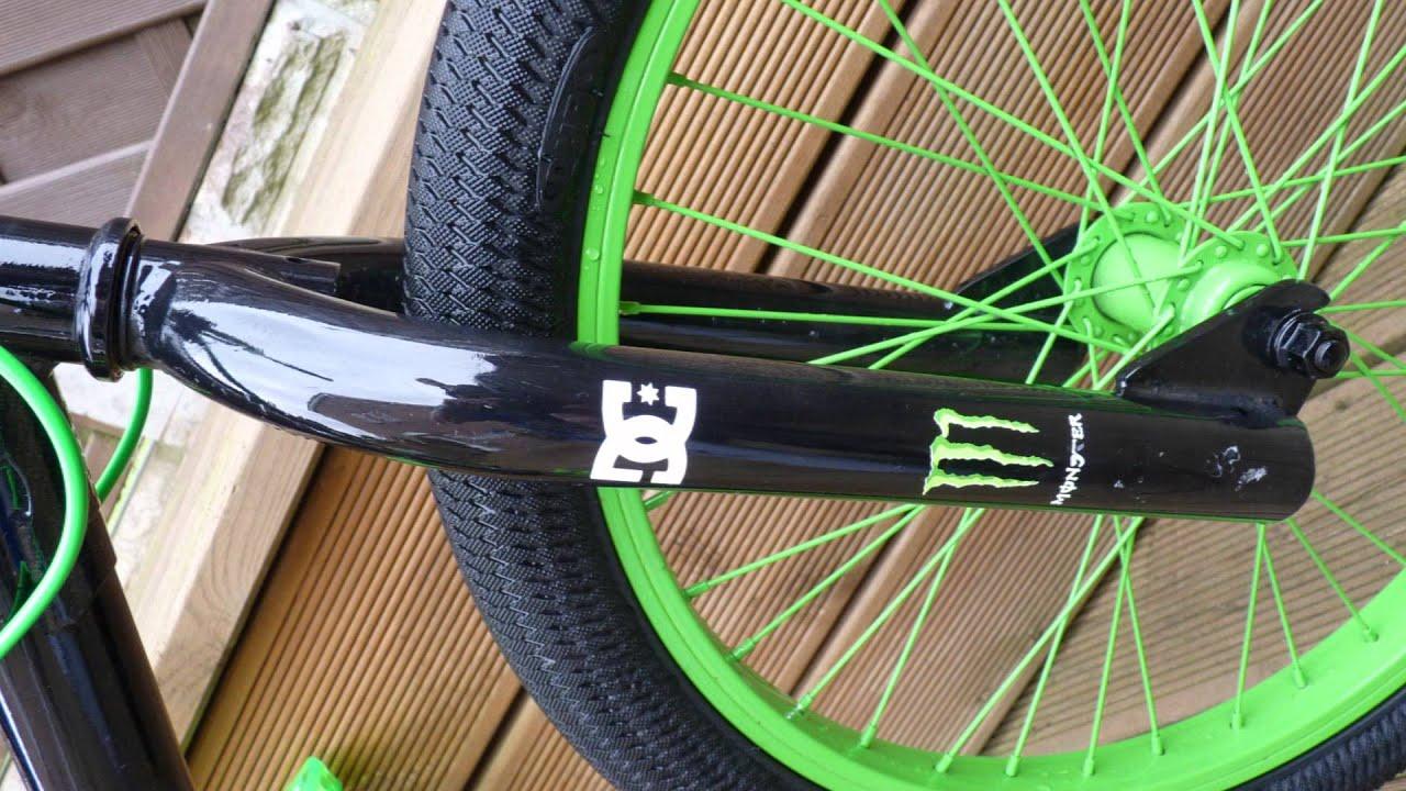 Custom Monster Energy And DC BMX For Sale YouTube - Custom bmx stickers