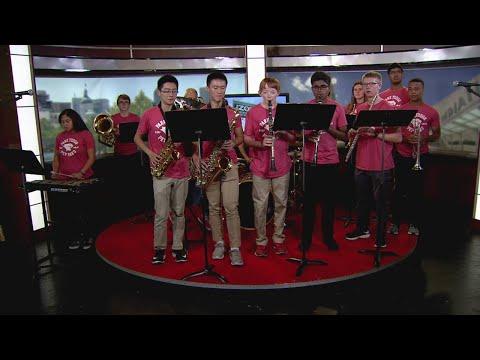 Park Tudor School Pep Band peforms on #TheZone8