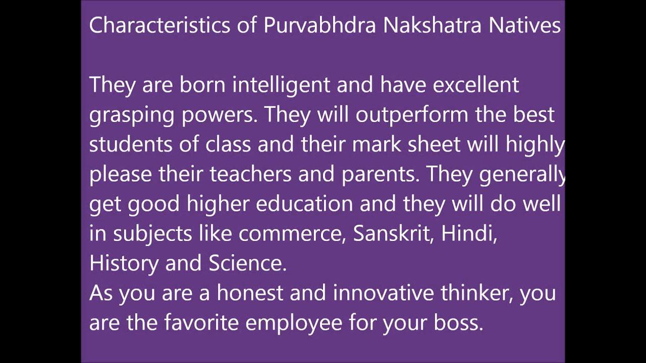 Purvabhadra Nakshatra Characteristics by Pooja Luthra