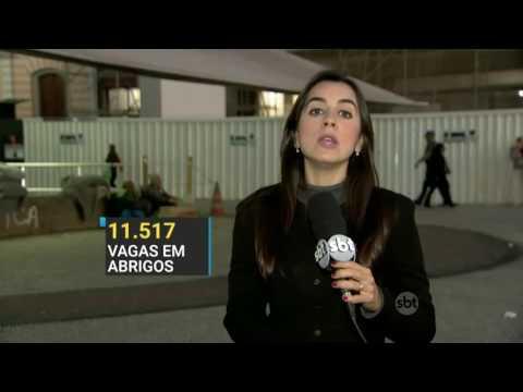 SBT Brasil (16/06/16) Prefeitura de SP anuncia tendas emergenciais para abrigar moradores de rua
