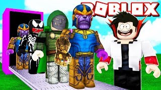 FACTORY OF VILLAINS OF THE AVENGERS ULTIMATUM IN ROBLOX! (Super Hero Tycoon)