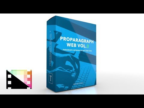 ProParagraph Web Volume 3 - Animated Paragraphs For FCPX - Pixel Film Studios