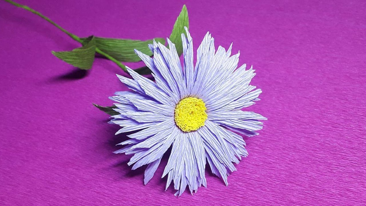 How To Make Erigeron Crepe Paper Flowers Flower Making Of Crepe