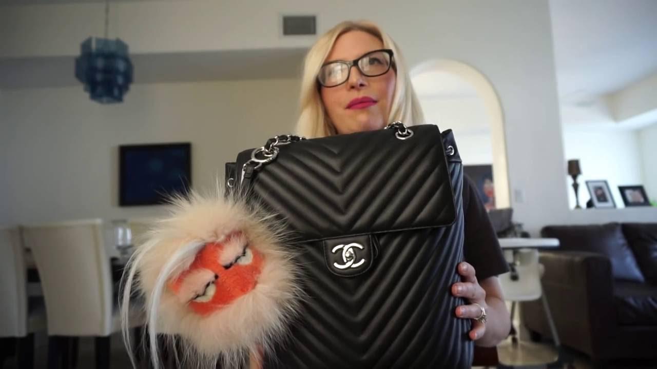f3a9d1431340 Chanel urban spirit backpack chevron - YouTube