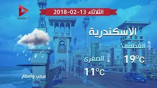 طقس غائم على القاهرة وأمطار على الوجه البحري