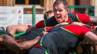 Des rugbymen gallois au cœur des Alpes