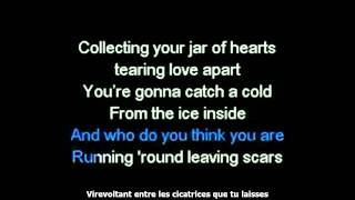 Christina Perri - Jar of Hearts (karaoke + traduction française)