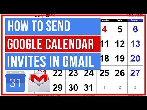 Google Calendar - How To Create Google Calendar Invite IN GMAIL
