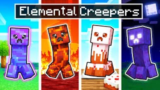 10 SECRET ELEMENTAL Creepers In Minecraft!