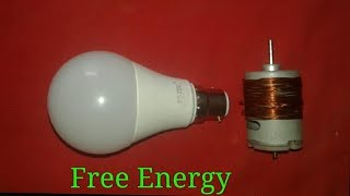Free Energy Use 2 Dc moter magnets And copper wire