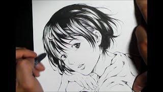 小畑健さんの絵の練習 [女性キャラ]