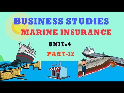 MARINE INSURANCE|UNIT-4 PART-12 BUSINESS SERVICES|BUSINESS STUDIES CBSE