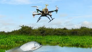 Testing Drone Fishing In Cambodia -Khmer Fishing At Siem Reap Cambodia
