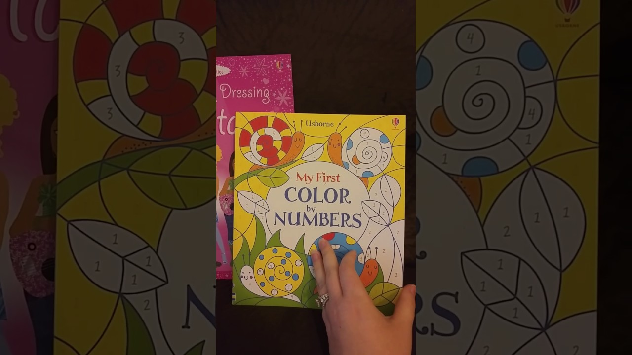 Color By Number Sticker Dolly Dressing Usborne Activity Books