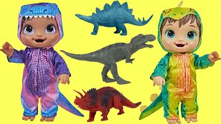 Learn Dinosaur Names & Sounds with Baby Alive Dino Cuties Dolls