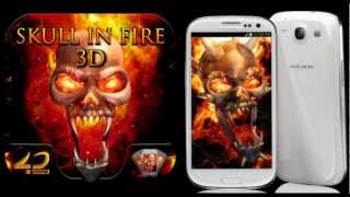 LWP Skull In Fire 3D New Version