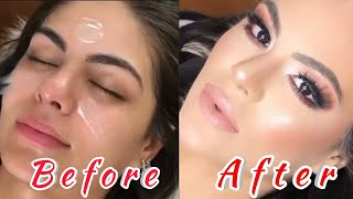 step by step makeup tutorial for beginners   Smokey eye makeup with nude lips 💋 screenshot 5