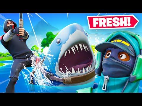 I ELIMINATED FRESH with a SHARK (Fortnite Season 3)