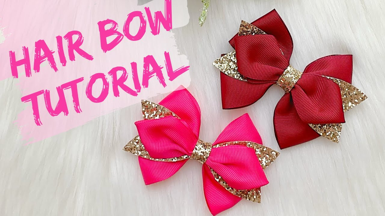 how to make a hair bow out of ribbon youtube