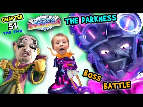 Kaos & Chase Defeat THE DARKNESS! Lets Play SKYLANDERS SUPERCHARGERS Chapter 51: FINAL BOSS BATTLE