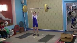 Ксенофонтов Матвей, 13 лет, вк 38 Толчок 50 кг