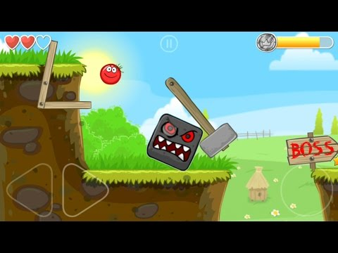 Playing RED BALL 4 with Tomato Ball and killing the BOSS in Volume 1 all levels played