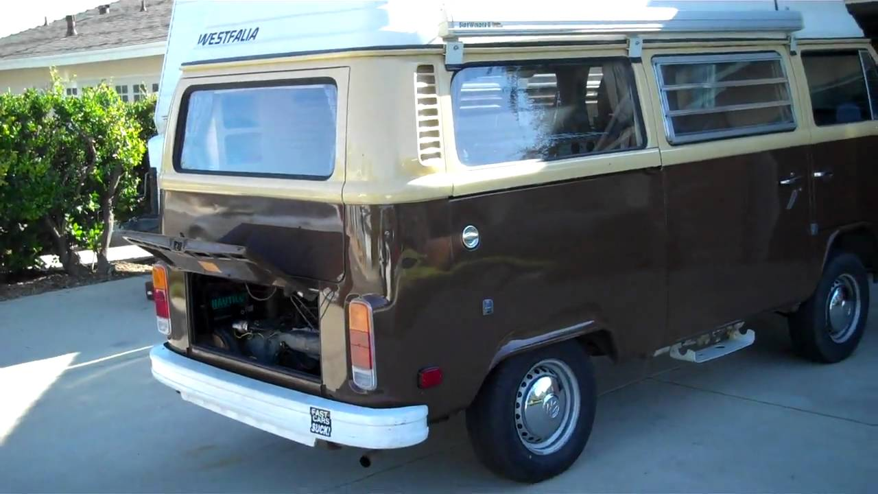 1978 Vw Bus After New Engine Youtube