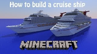 How to build a cruise ship in Minecraft! Part 5- Lifeboats And Funnel!