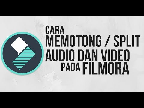 how to make a split video filmora