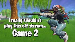 """I really shouldn't play this game off stream..."" Game 2 