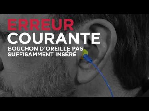Comment utiliser de bouchons d'oreilles à pousser pour ajuster?