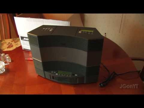 Bose Acoustic Wave Music System II and CD Changer Setup,Overview, and Sound Comparison AW-2