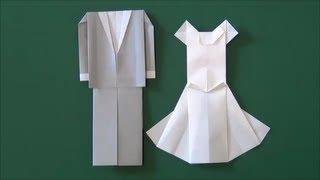 結婚式・新婦「ウエディングドレス」折り紙Marriage ceremony