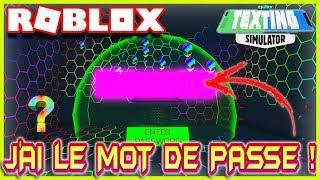 J'AI LE MOT DE PASSE ! | Roblox Texting Simulator