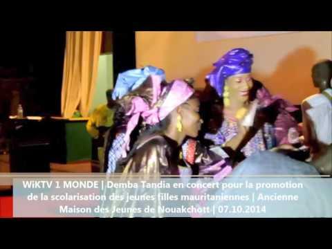 Demba Tandia en concert pour la promotion de la scolarisation des jeunes filles mauritanie