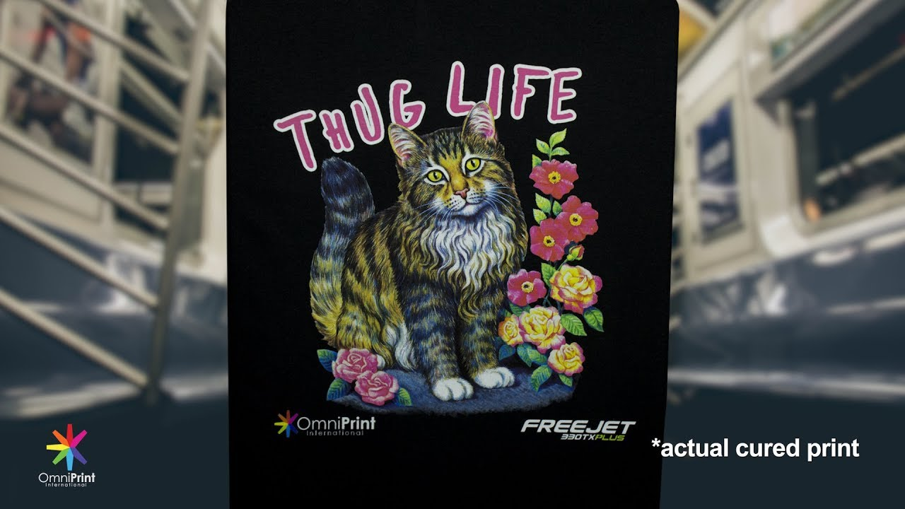 Thug Life Cat T Shirt Printed With Freejet 330tx Plus Omniprint