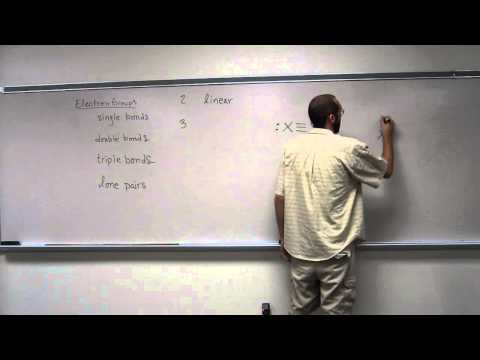 Relating Number of Electron Groups to Electronic Geometry Around the Central Atom