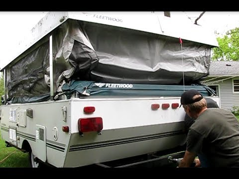 How to raise a folding camper with a heavy duty drill