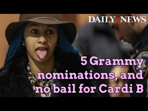 Cardi B has good day - no bail in brawl bust & 5 Grammy nominations