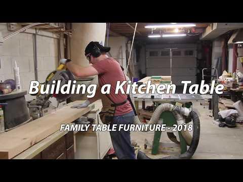 DIY Kitchen Table with Reclaimed Wood Veneers