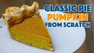 🔵 Easy Classic Pumpkin Pie || Glen & Friends Cooking