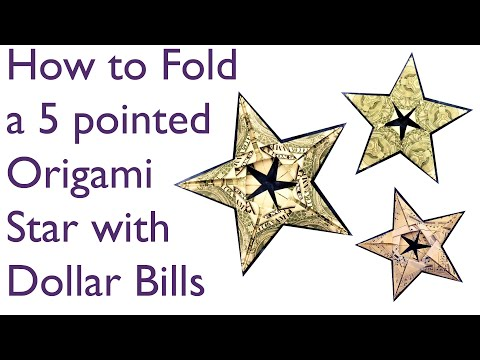 Origami 5 Pointed Star Youtube