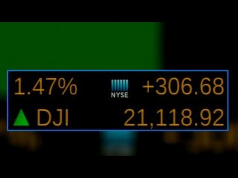 Dow rises 100 points, hits record high as Boeing and other companies post strong earnings