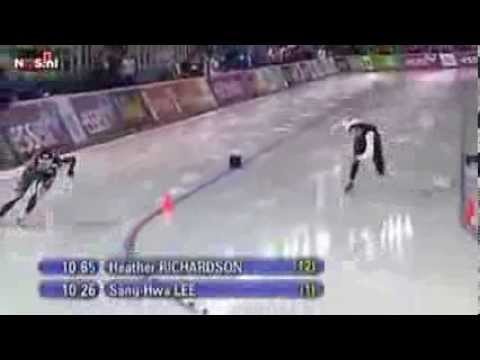 sochi 2014 Lee Sang hwa wins gold medal 500 meters sochi 2014