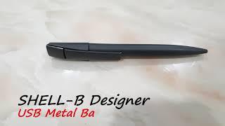 SHELL-B Designer USB Metal Ball Pen 8GB - Logo On Gift
