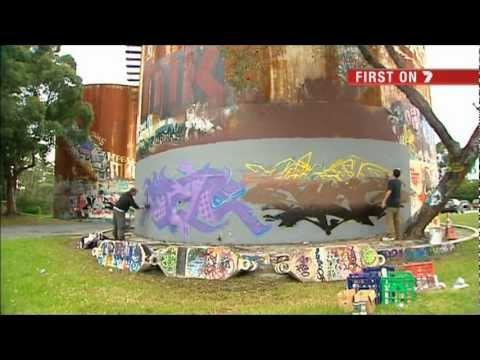 Casula Graffiti Wall near CityRail Casula Railway Station
