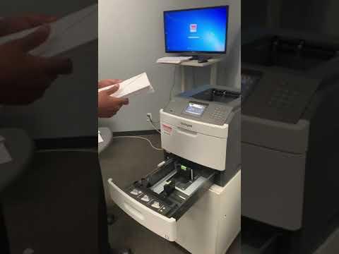 Envelope Printing Demonstration On Lexmark Printer
