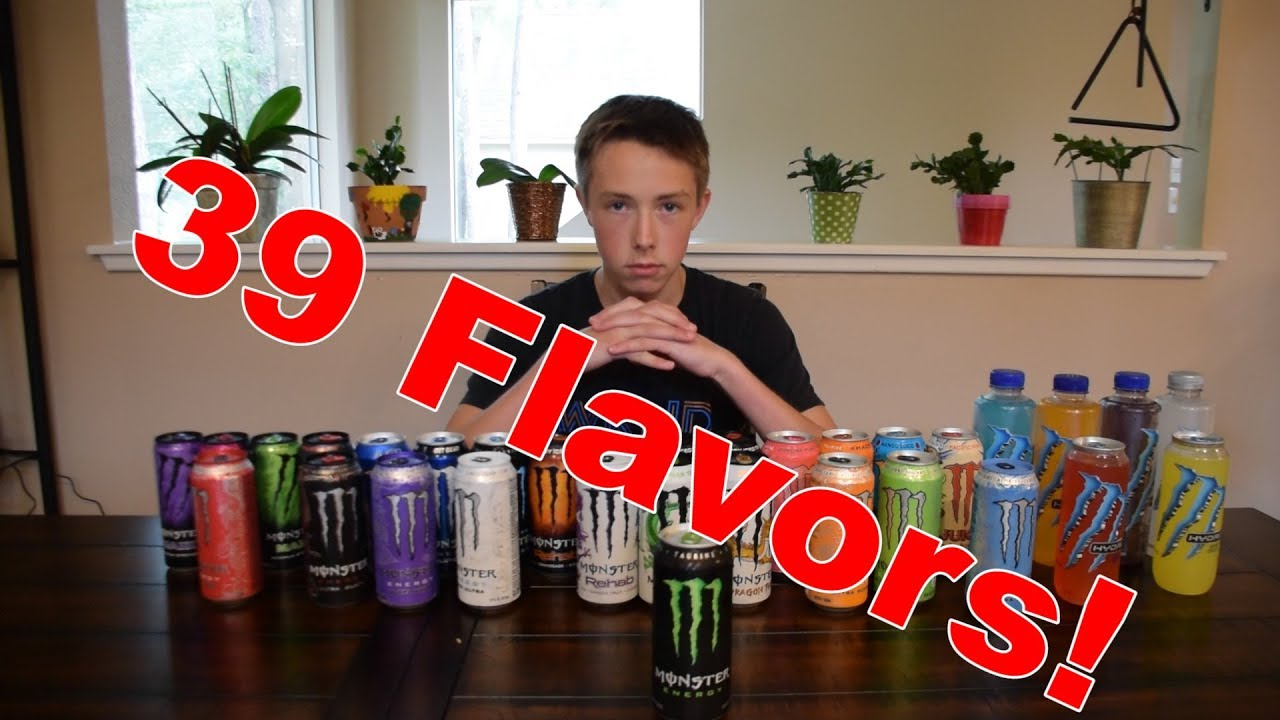 Review Of Every Flavor Of Monster Energy In 15 Seconds Or Less Youtube